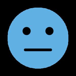 マイナスの表情