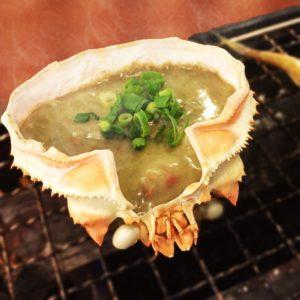 カニの甲羅の料理